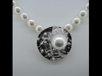 Sil南洋真珠(13.7mm)ペンダントブロ-チ