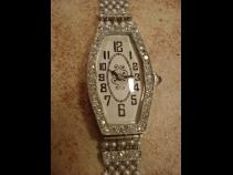 1920年代 プラチナダイヤモンド・サファイヤ・パール時計 (USED)