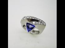 K18タンザナイト(T1.12ct)ダイヤモンド(D0.33ct)リング
