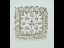 K18ダイヤモンドブロ-チ