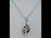 K18WGダイヤモンドペンダントネックレス (0.32ct)