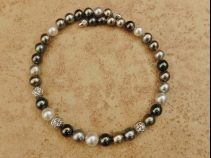 K18WG南洋マルチカラー真珠ネックレス