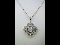 K18WGダイヤモンド(1.18ct)ネックレス