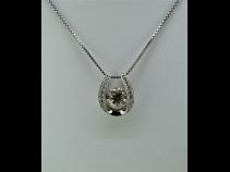PTK18ダイヤモンド(2.0ct、0.20ct)ペンダントネックレス