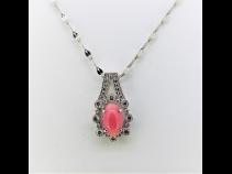Pt900 コンクパール(1.85ct) ダイヤモンド(0.26ct)ペンダントPt850ネックレス