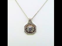 PTK18ダイヤモンド(0.45ct、0.34ct)ペンダントネックレス