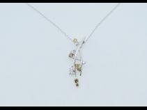 K18WG ダイヤモンド(0.5ct) ペンダントネックレス