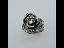 K18WG(ブラック仕上)ダイヤモンド0.85ctリング