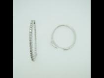 K18WGダイヤモンド(0.16ct)ピアス