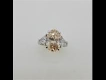 PTダイヤモンド(中石3.450ct FLBOY SI1 脇石0.71ct)リング