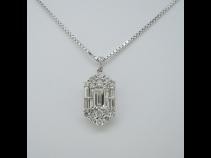 PTダイヤモンドペンダント(D0.334ct、D0.90ct)K18WGネックレス