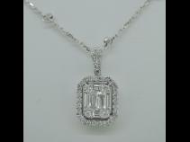 K18WG/750ダイヤモンドネックレス(0.65ct)