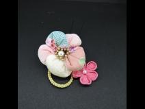 ちりめんつまみコ-ム・ミニ2点セット 白/ピンク