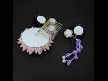 つまみ細工剣菊コ-ム・ミニ2点セット  紫