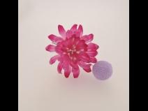 ミニフラワ-Uピン3点セット  薄紫