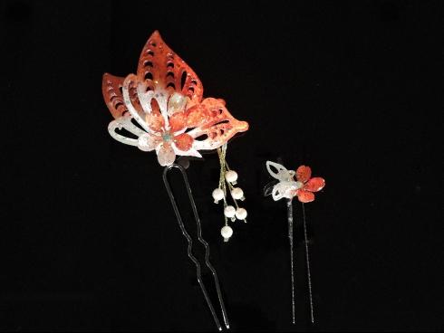 オリジナル蝶かんざしUピン 2点セット